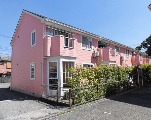 高知市大津甲ピンク色の外観が特徴の2DKのお部屋♪
