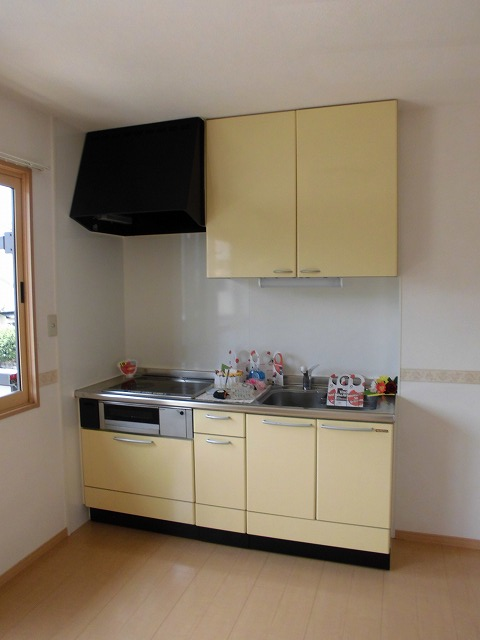 収納力があるキッチンです。
