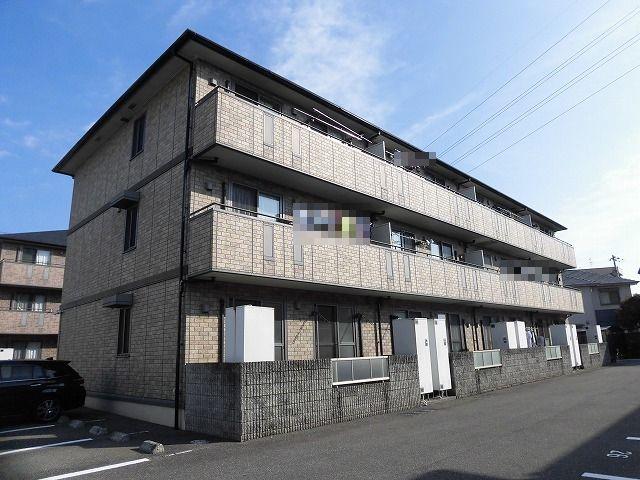 高知市高須東町のペット飼育可能の2DK♪3階建て最上階角部屋♪