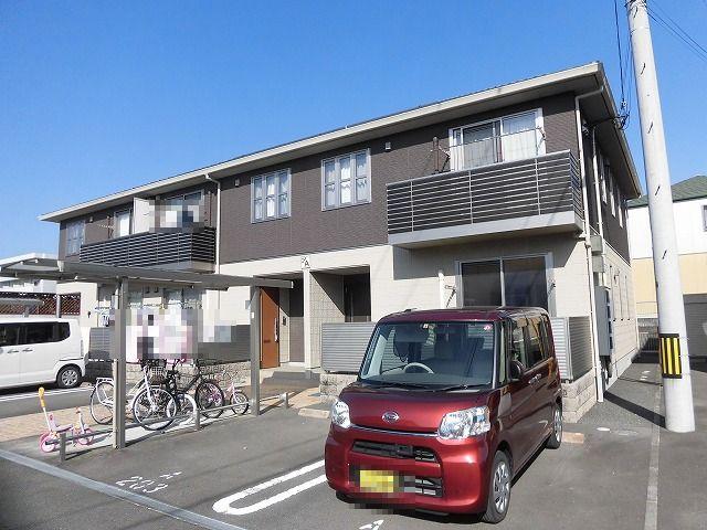 高知市大津乙、2階建てアパート1階中部屋2LDKの間取り♪