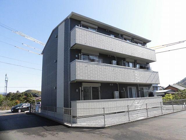 高知市介良新築アパート♪3階建て3階角部屋1LDK♪